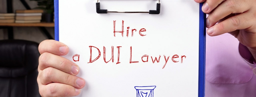 hiring a dui attorney on your first charge